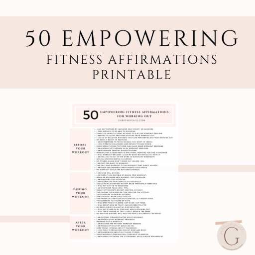 50 empowering fitness affirmations printable