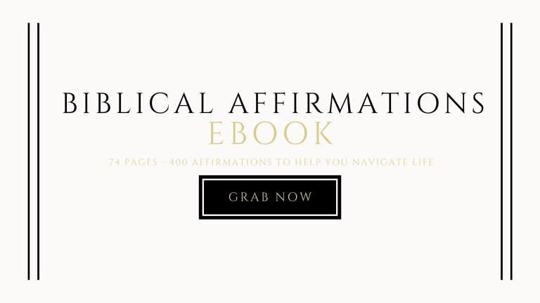 biblical affirmations ebook landing page