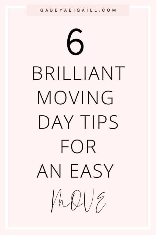 5 Brilliant Moving Day Tips For An Easy Move pin