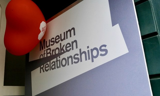 Musem of Broken relationships in Zagreb Croatia