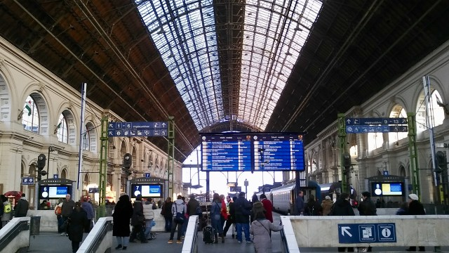 travel hacks for europe, budget travel tips, Budapest Hungary train station