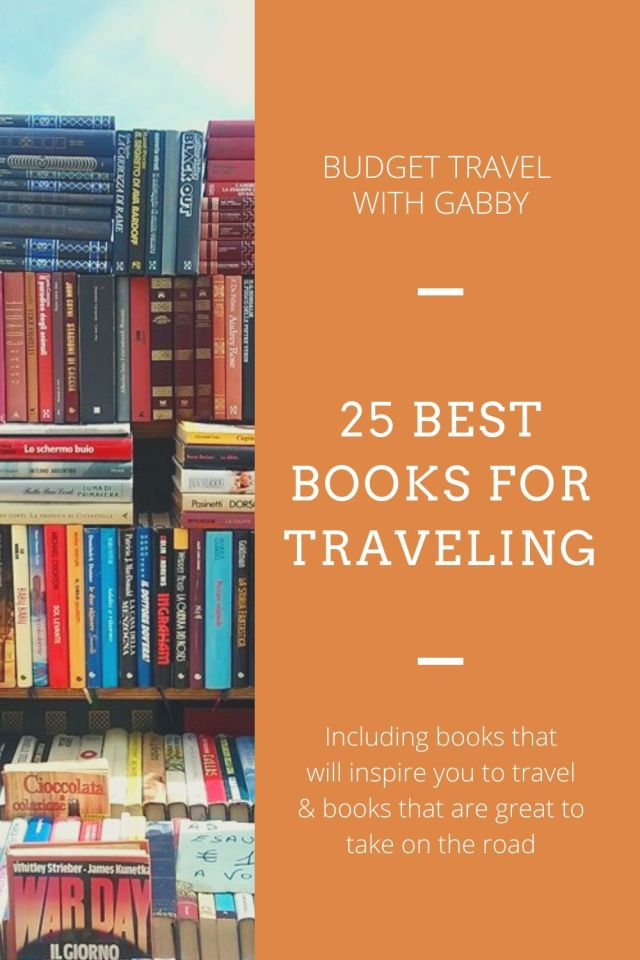25 BEST BOOKS FOR TRAVELING