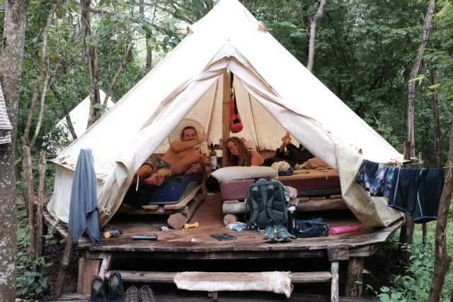 tent costa rica work exchange the cheapest way to travel