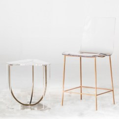 Lucite Acrylic Chairs Outdoor Kids Chair Let S Get This Clear 10 Reasons We Love Gabby Counter Stool And End Table By