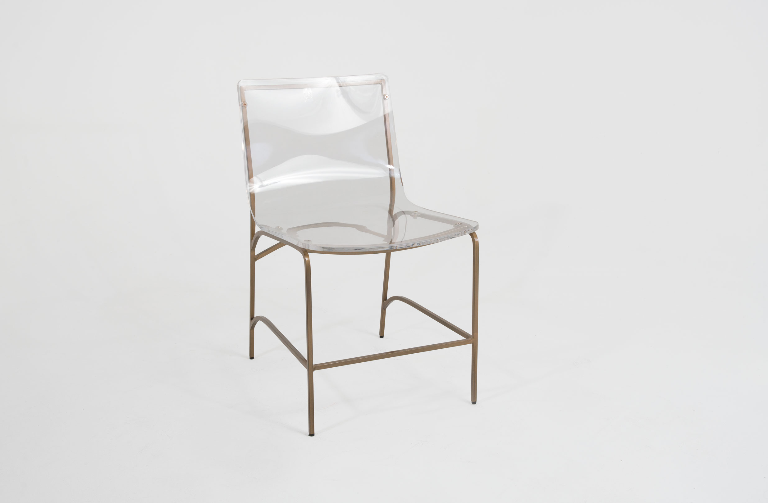 Clear Acrylic Chair Gold And Lucite Dining Chair Penelope By Gabby