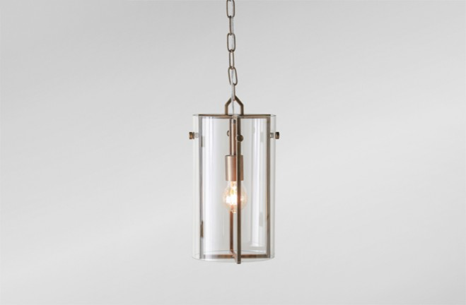 Pendant Light  Brass and glass pendant  Sharon by Gabby