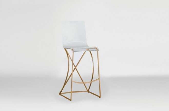 high chair for kitchen counter espresso cabinets transparent acrylic bar stool | gold and lucite johnson