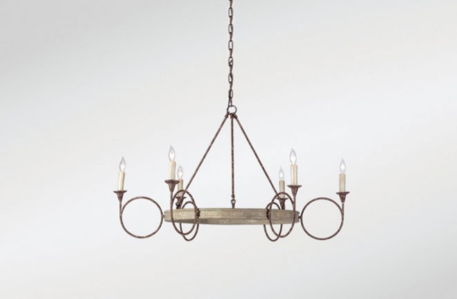 rustic metal dining chairs best fabrics for circle candle chandelier | bailey - gabby