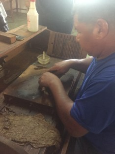 Rolling the cigars