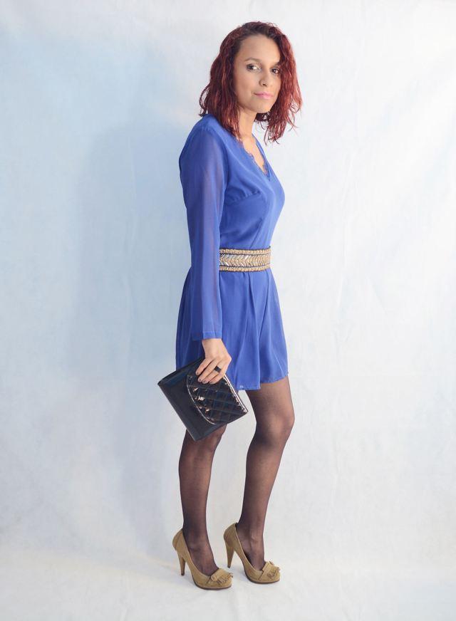 Look elegante con mono azul11
