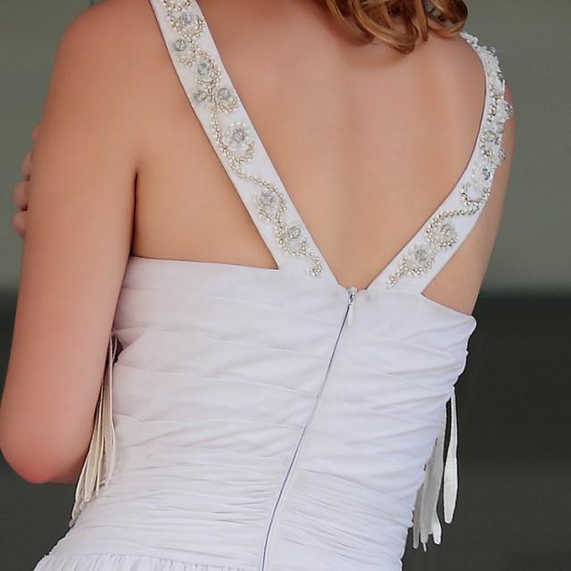Vestido blanco con flecos 3