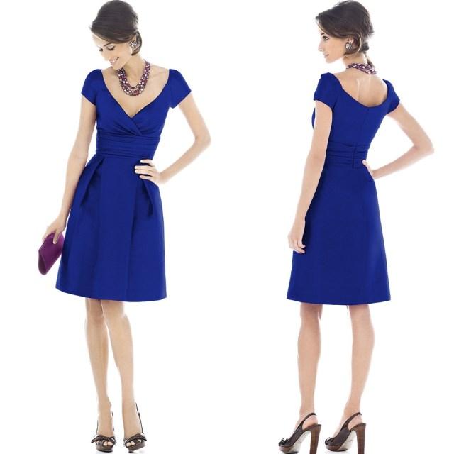 Vestido corto azul Klein 0