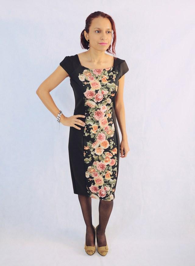 Look con vestido de flores 1