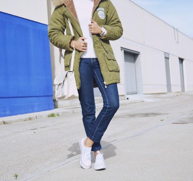 Look casual con parka 14