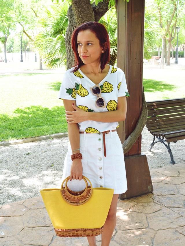 Falda y camiseta de piñas 5