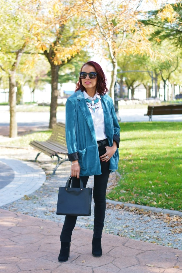 Outfit de otoño con blazer