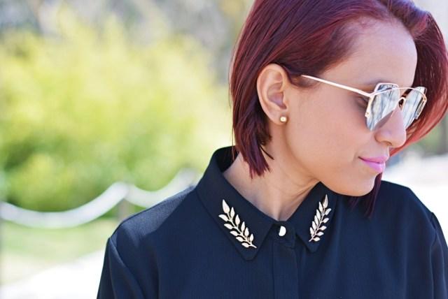 Accesorio Pin de cuello hojas