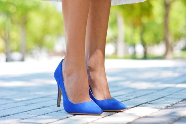 Zapatos azul klein