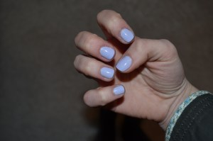 nail color: st. lucia lilac by essie