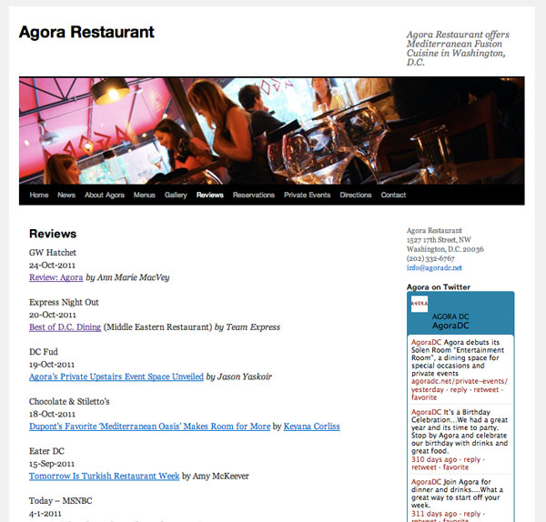 Agora Restaurant - Media reviews