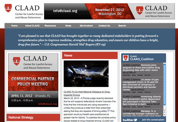 CLAAD - home page, March 2012