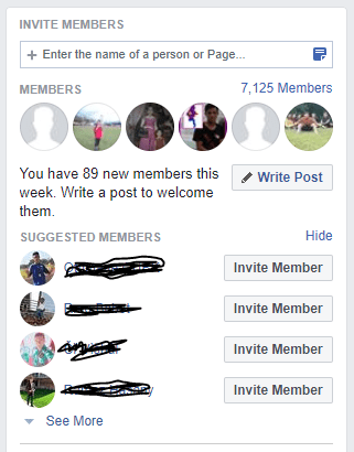 Invite people to your group from your page.