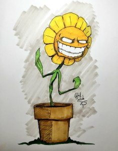 Drawing Session No. 0031: Wicked Sun Flower
