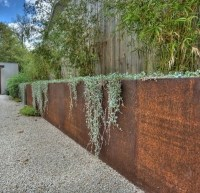 Corten Steel retaining wall - Gabion1 Australia
