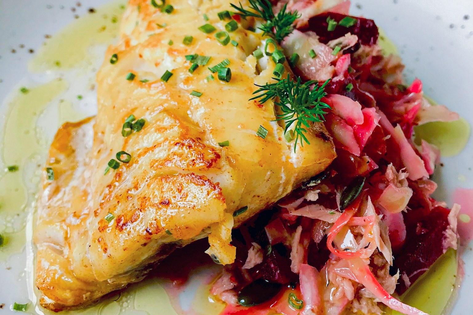 receita peixe grelhado com coleslaw