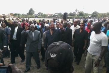 Myboto, Missambo et les autres présents au meeting du Front à Port-Gentil