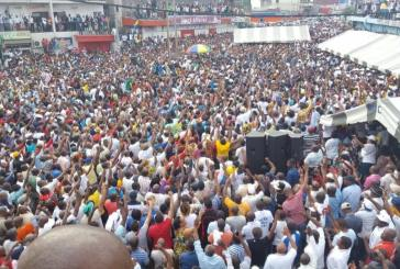 Jean Ping célébré à Nkembo comme un messie