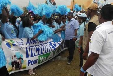 Plus de 1500 femmes du mouvement féministe « Mille et Une » promettent le vote cash au candidat Ali Bongo à Fougamou