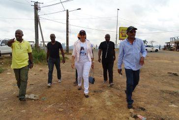 Grands chantiers de Lambaréné : Madeleine Berre satisfaite de l'avancement des travaux