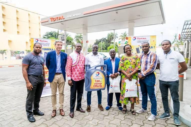 Total Marketing Gabon récompense ses premiers lauréats de la tombola Total Quartz 4x4