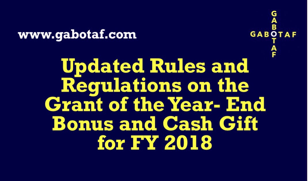 G/Budgeting: Updated Rules and Regulations on the Grant of