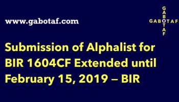 TAX UPDATE] BIR releases Alphalist Data Entry and Validation
