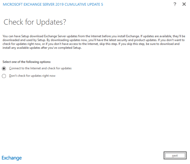 Exchange 2019 installation 01