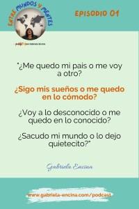 Episodio 1 Cita 1 La importancia de tu decisión Podcast Gabriela Encina