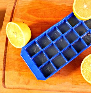 Lemon water made easy - lemon ice cubes | Lemon ice tray | Gabriela Green