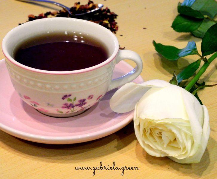 Tea Meditation   Teacup white rose   Gabriela Green