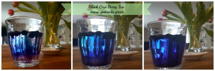 Black Goji Tea Getting the water colored | Gabriela Green | www.gabriela.green