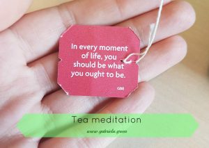 Tea meditation yogi tea quote Gabriela Green