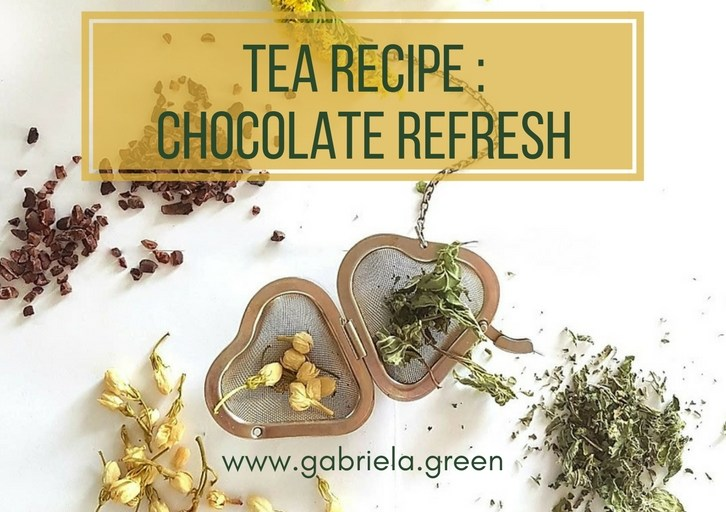 Tea Recipe - Chocolate Refresh - Gabriela Green Blog - www.gabriela.green
