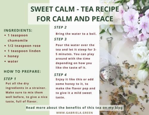 Sweet Calm - Tea Recipe For Calm And Peace www.gabriela.green (2)