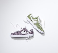 The Nike Blazer Low in Liberty's Capel and Pepper fabric.