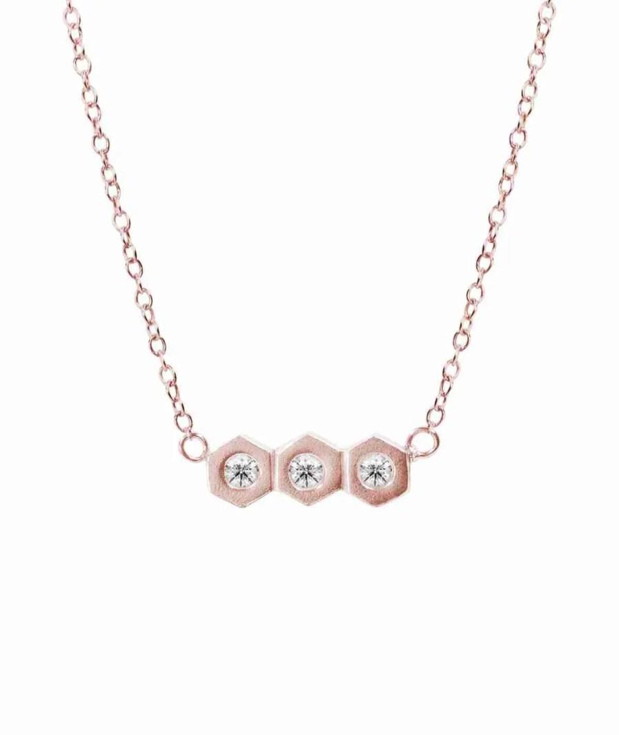 gold trio diamond necklace