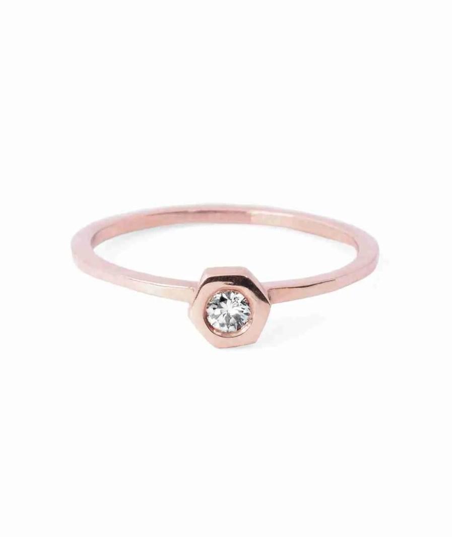 rose gold diamond solitaire