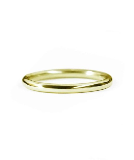 yellow gold classic round wedding band