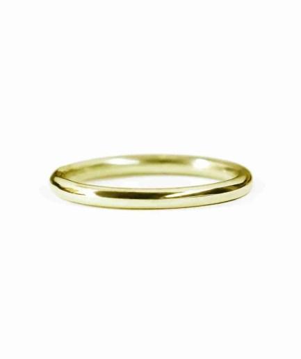 yellow gold classic round wedding band