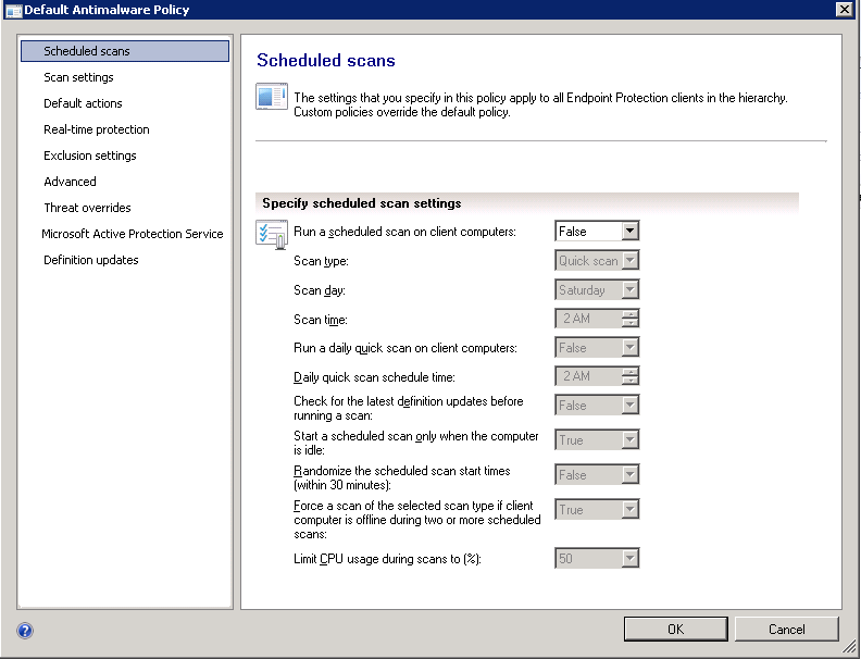 SCCM 2012: Part VI – Endpoint Protection Manager Agent and